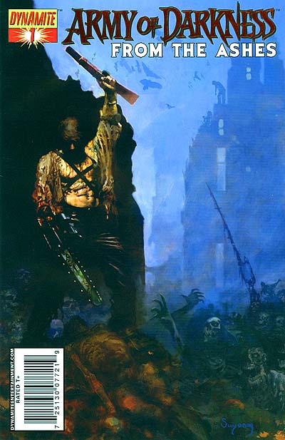 Cover for Army of Darkness (Dynamite Entertainment, 2007 series) #1 [Negative Art RI]