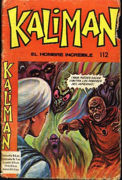 Cover for Kaliman (Editora Cinco, 1976 series) #112