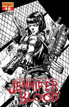 Cover Thumbnail for Jennifer Blood (2011 series) #1 [Black-and-White Retailer Incentive Cover]