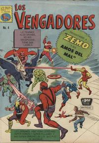 Cover Thumbnail for Los Vengadores (Editora de Periódicos La Prensa S.C.L., 1965 series) #4