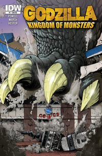 Cover Thumbnail for Godzilla: Kingdom of Monsters (IDW, 2011 series) #1 [Second Printing:  Downtown Comics Cover]