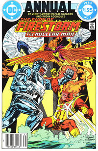Cover Thumbnail for Fury of Firestorm Annual (DC, 1983 series) #1 [Newsstand]