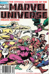 Cover Thumbnail for The Official Handbook of the Marvel Universe (Marvel, 1985 series) #1 [Newsstand]