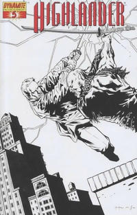 Cover Thumbnail for Highlander (Dynamite Entertainment, 2006 series) #5 [Black-and-White Retailer Incentive Cover]