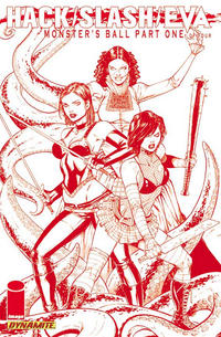 Cover Thumbnail for Hack/Slash/Eva: Monster's Ball (Dynamite Entertainment, 2011 series) #1 [Blood Red High-End Edition]