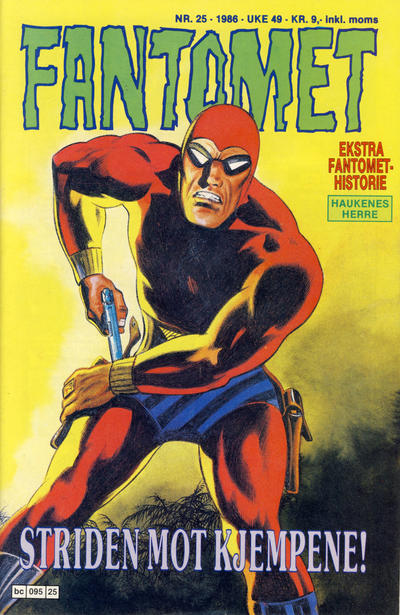 Cover for Fantomet (Semic, 1976 series) #25/1986
