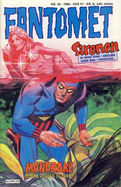 Cover for Fantomet (Semic, 1976 series) #26/1986