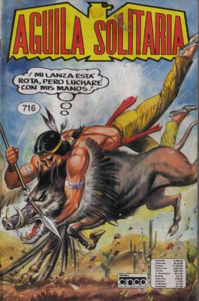 Cover for Aguila Solitaria (Editora Cinco, 1976 ? series) #716