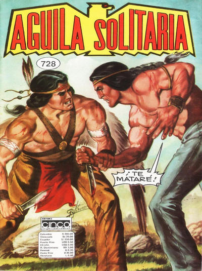 Cover for Aguila Solitaria (Editora Cinco, 1976 ? series) #728