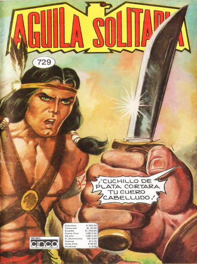 Cover for Aguila Solitaria (Editora Cinco, 1976 ? series) #729