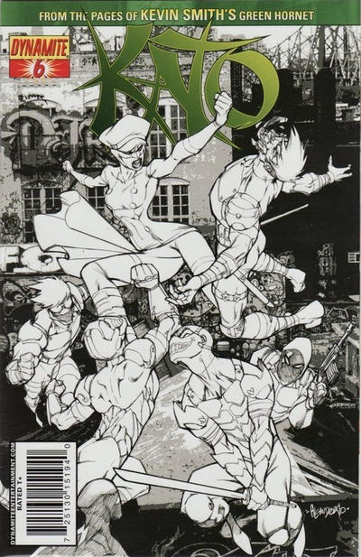 Cover for Kato (Dynamite Entertainment, 2010 series) #6 [Ale Garza Sketch Cover]