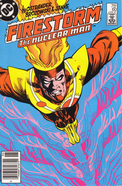 Cover for The Fury of Firestorm (DC, 1982 series) #60 [Newsstand]