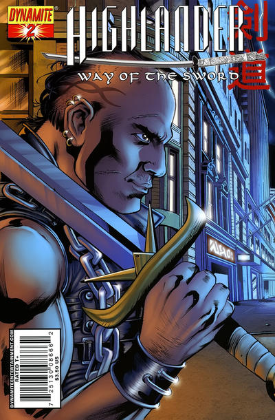 Cover for Highlander: Way of the Sword (Dynamite Entertainment, 2007 series) #2 [Cover A]