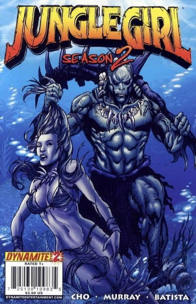 Cover for Jungle Girl Season 2 (Dynamite Entertainment, 2008 series) #2 [Negative Art Incentive]