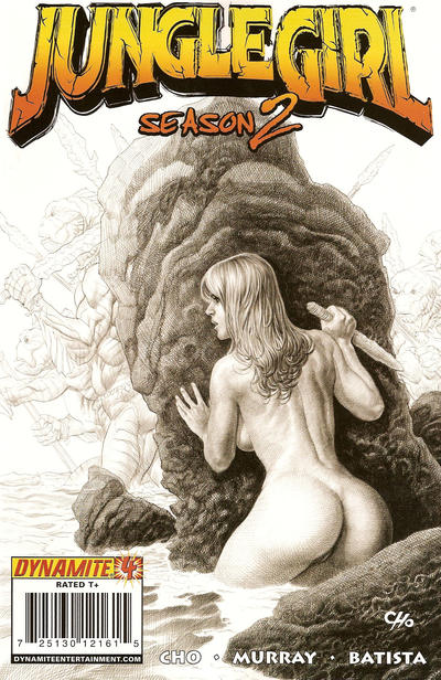 Cover for Jungle Girl Season 2 (Dynamite Entertainment, 2008 series) #4 [Frank Cho Risque Sketch Cover]