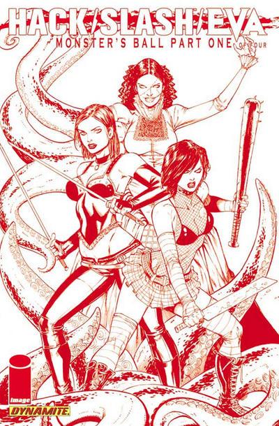 Cover for Hack/Slash/Eva: Monster's Ball (Dynamite Entertainment, 2011 series) #1 [B&W RI]
