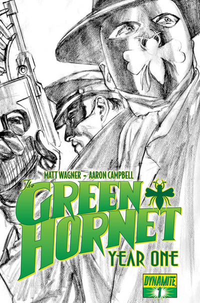 Cover for Green Hornet: Year One (Dynamite Entertainment, 2010 series) #1 [1-in-25 Retailer Incentive Matt Wagner]