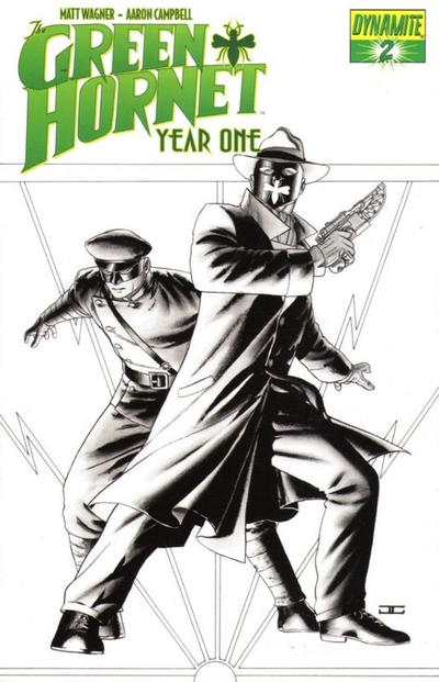 Cover for Green Hornet: Year One (Dynamite Entertainment, 2010 series) #2 [Cassaday - B&W RI]