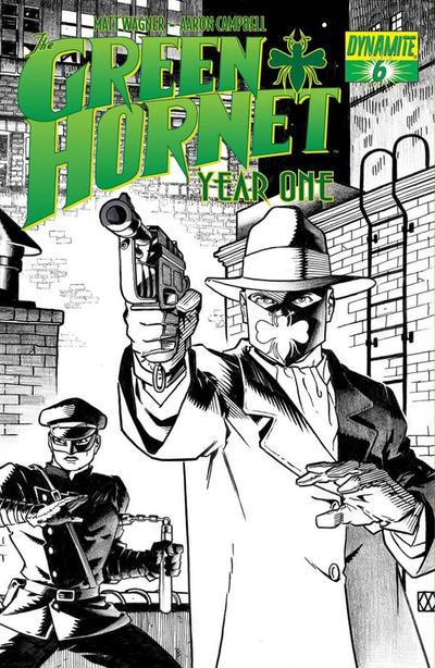 Cover for Green Hornet: Year One (Dynamite Entertainment, 2010 series) #6 [Matt Wagner Cover]