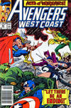 Cover for Avengers West Coast (Marvel, 1989 series) #55 [Newsstand]
