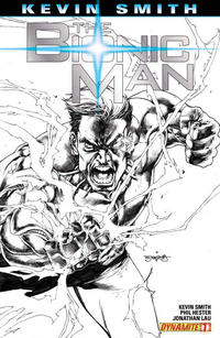 Cover Thumbnail for Bionic Man (Dynamite Entertainment, 2011 series) #1 [Cover RI - Stephen Segovia Black and White Variant]