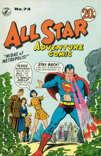 Cover Thumbnail for All Star Adventure Comic (K. G. Murray, 1959 series) #74