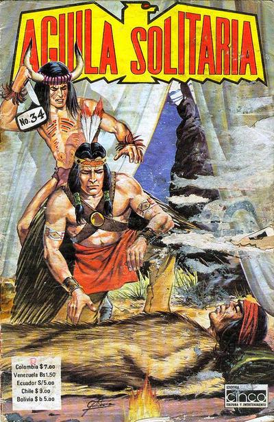 Cover for Aguila Solitaria (Editora Cinco, 1976 ? series) #34