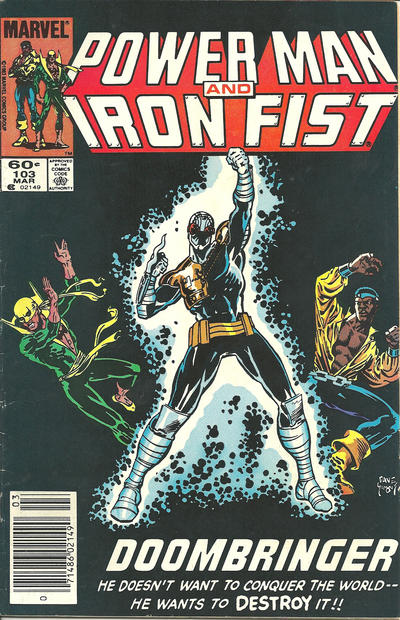 Cover for Power Man and Iron Fist (Marvel, 1981 series) #103 [newsstand]