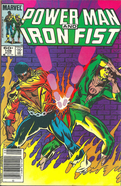 Cover for Power Man and Iron Fist (Marvel, 1981 series) #108 [newsstand]