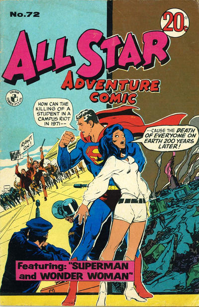 Cover for All Star Adventure Comic (K. G. Murray, 1959 series) #72