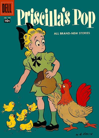 Cover for Four Color (Dell, 1942 series) #799 - Priscilla's Pop