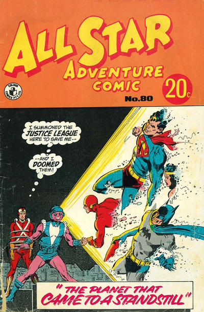 Cover for All Star Adventure Comic (K. G. Murray, 1959 series) #80