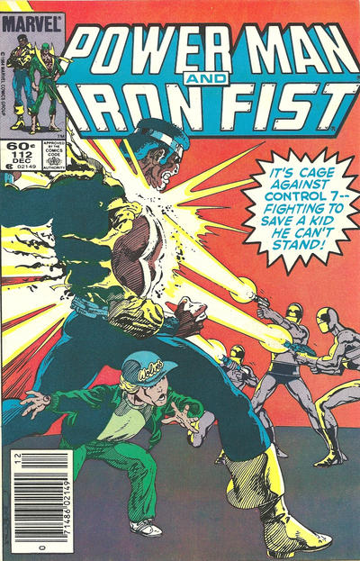 Cover for Power Man and Iron Fist (Marvel, 1981 series) #112 [newsstand]