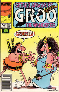 Cover Thumbnail for Sergio Aragonés Groo the Wanderer (Marvel, 1985 series) #18 [Newsstand Edition]