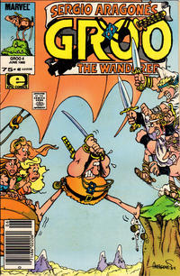 Cover Thumbnail for Sergio Aragonés Groo the Wanderer (Marvel, 1985 series) #4 [Newsstand Edition]