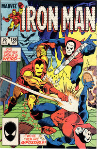 Cover for Iron Man (Marvel, 1968 series) #188 [Newsstand Edition]