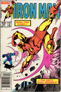 Cover Thumbnail for Iron Man (Marvel, 1968 series) #187 [60¢ cover (Newsstand Edition)]