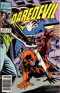 Cover Thumbnail for Daredevil (Marvel, 1964 series) #240 [Newsstand Edition]