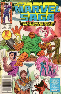 Cover Thumbnail for The Marvel Saga the Official History of the Marvel Universe (Marvel, 1985 series) #1 [Newsstand]