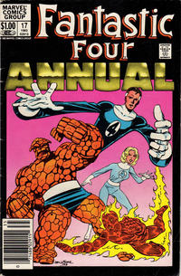 Cover Thumbnail for Fantastic Four Annual (Marvel, 1963 series) #17 [Newsstand Edition]
