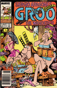 Cover Thumbnail for Sergio Aragonés Groo the Wanderer (Marvel, 1985 series) #28 [Newsstand Edition]