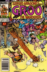 Cover Thumbnail for Sergio Aragonés Groo the Wanderer (Marvel, 1985 series) #29 [Newsstand Edition]
