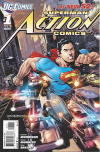 Cover Thumbnail for Action Comics (DC, 2011 series) #1 [Rags Morales Cover]