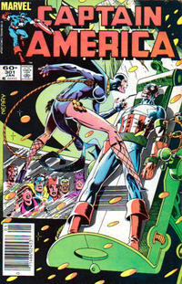 Cover Thumbnail for Captain America (Marvel, 1968 series) #301 [Newsstand Edition]
