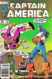 Cover Thumbnail for Captain America (Marvel, 1968 series) #303 [Newsstand Edition]