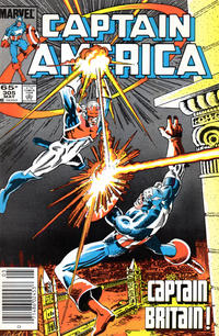 Cover Thumbnail for Captain America (Marvel, 1968 series) #305 [Newsstand Edition]