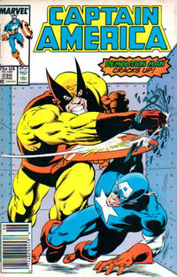 Cover Thumbnail for Captain America (Marvel, 1968 series) #330 [Newsstand]