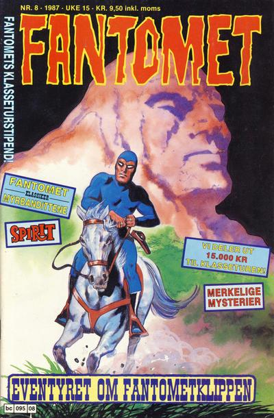 Cover for Fantomet (Semic, 1976 series) #8/1987