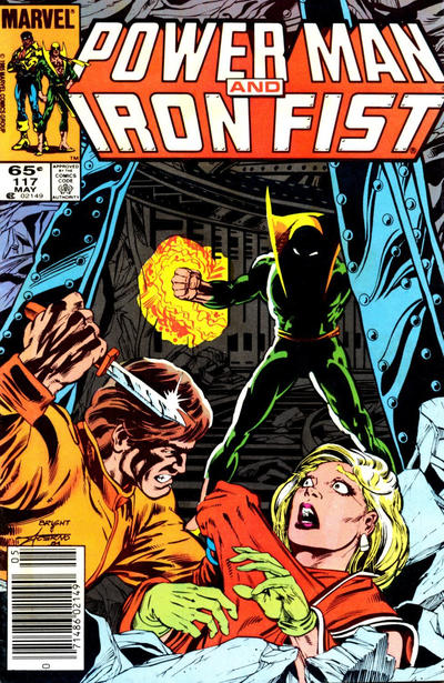 Cover for Power Man and Iron Fist (Marvel, 1981 series) #117 [Canadian newsstand 75¢ edition]
