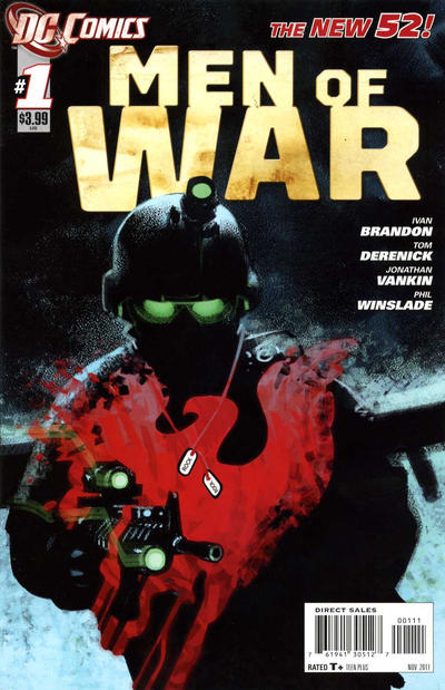 Cover for Men of War (DC, 2011 series) #1 [2nd Printing - Red Background]